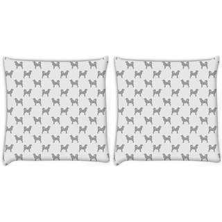 Snoogg Grey Dog Digitally Printed Cushion Cover Pillow 22 x 22 Inch