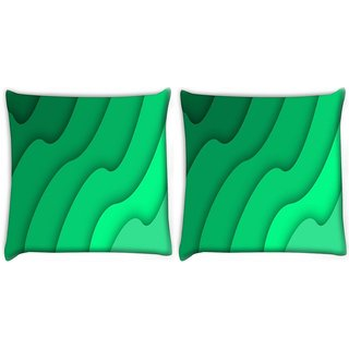 Snoogg Abstract Green Pattern Digitally Printed Cushion Cover Pillow 22 x 22 Inch