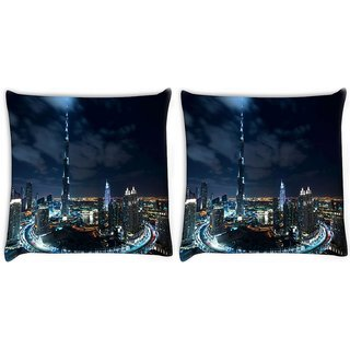 Snoogg Winter In Dubai Digitally Printed Cushion Cover Pillow 22 x 22 Inch