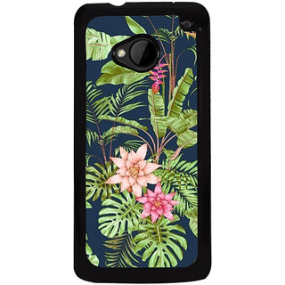 Ayaashii Natural Fancy Leafs Back Case Cover for HTC One M8::HTC M8
