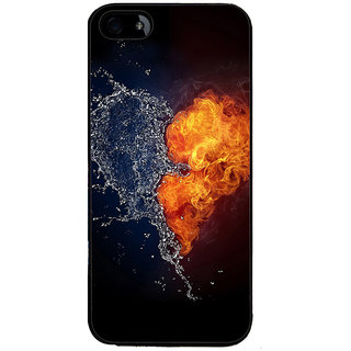 Ayaashii Fire And Water Heart Back Case Cover for Apple iPhone 5::Apple iPhone 5S