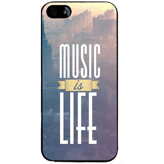 Ayaashii Music Is Life Back Case Cover for Apple iPhone 5::Apple iPhone 5S