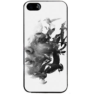 Ayaashii Birds And Face Back Case Cover for Apple iPhone 5::Apple iPhone 5S
