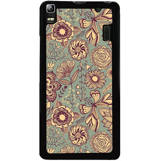 Ayaashii Floral Pattern Back Case Cover for Lenovo K3 Note