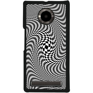 Ayaashii Black & White Pattern Back Case Cover for YU Yuphoria::Micromax Yuphoria YU5010