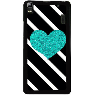 Ayaashii Heart With Pattern Back Case Cover for Lenovo K3 Note