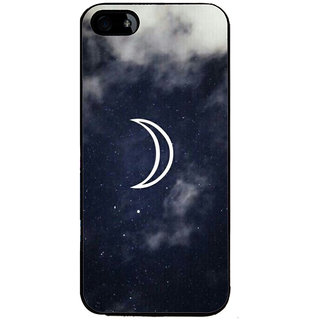 Ayaashii Half Moon Back Case Cover for Apple iPhone 5::Apple iPhone 5S