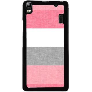 Ayaashii Pink Vertical Strips Back Case Cover for Lenovo K3 Note