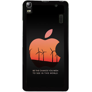 Ayaashii Be The Change U Wish Back Case Cover for Lenovo K3 Note