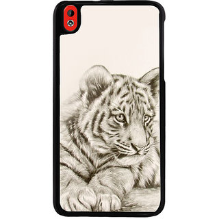 Ayaashii Sitting Tiger Back Case Cover for HTC Desire 816::HTC Desire 816 G