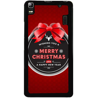 Ayaashii Merry Chirstmas Wishes Back Case Cover for Lenovo K3 Note