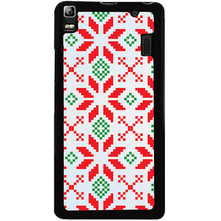 Ayaashii Red Green Logo Pattern Back Case Cover for Lenovo K3 Note