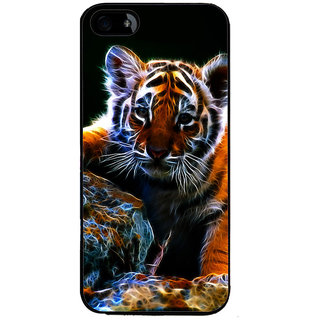Ayaashii Animated Tiger Back Case Cover for Apple iPhone 5::Apple iPhone 5S