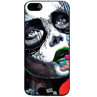 Ayaashii Animated Girl Face Back Case Cover for Apple iPhone 5::Apple iPhone 5S