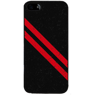 Ayaashii Red Cross Lines Back Case Cover for Apple iPhone 5::Apple iPhone 5S