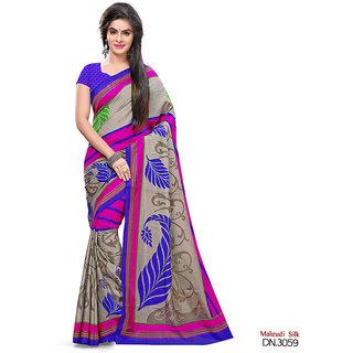 Yuvanika Multicolor Printed Art Silk Saree with Blouse-svimala3059