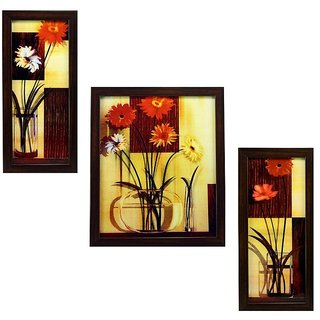 3 Piece Set Of Framed Wall Hanging Painting Gtsfra0634