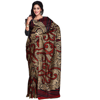 Yuvanika Multicolor Printed Bhagalpuri Silk Saree with Blouse-yuvef0007