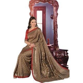 Yuvanika Multicolor Printed Bhagalpuri Silk Saree with Blouse-VIS11948
