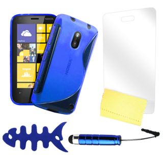 Zigcart Blue S Line Mobile Cover for Nokia 620 with 4 Freebies