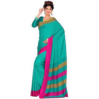 Yuvanika Multicolor Printed Bhagalpuri Silk Saree with Blouse-SDMS5505