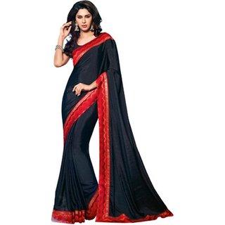 Yuvanika Multicolor Printed Bhagalpuri Silk Saree with Blouse-VIS2952