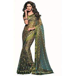 Yuvanika Multicolor Printed Bhagalpuri Silk Saree with Blouse-VIS2979
