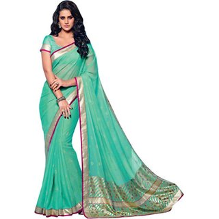 Yuvanika Multicolor Printed Bhagalpuri Silk Saree with Blouse-VIS2997