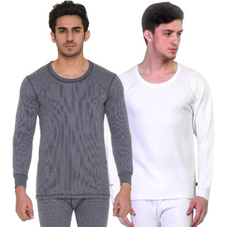 Vimal Blended Multicolor Thermal Top For Men (Pack Of 2)