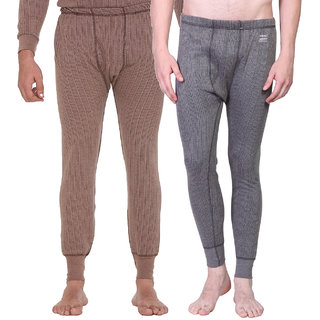 Vimal Blended Multicolor Thermal Lower For Men (Pack Of 2)