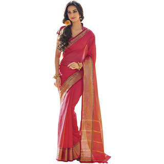 Yuvanika Multicolor Printed Cotton Saree with Blouse-AuRosina