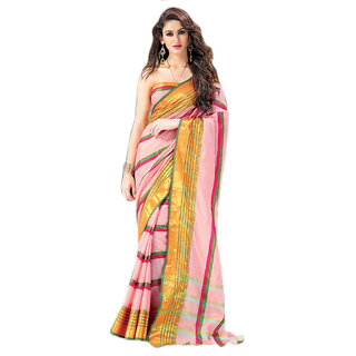 Yuvanika Multicolor Printed Cotton Saree with Blouse-AuSamina