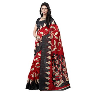 Yuvanika Multicolor Printed Bhagalpuri Silk Saree with Blouse-syuvef000129