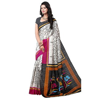 Yuvanika Multicolor Printed Bhagalpuri Silk Saree with Blouse-syuvef000141