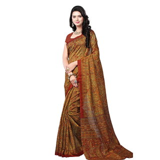 Yuvanika Multicolor Printed Bhagalpuri Silk Saree with Blouse-syuvef000145