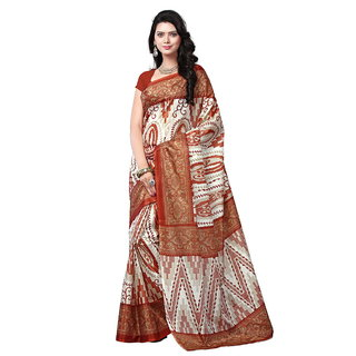Yuvanika Multicolor Printed Bhagalpuri Silk Saree with Blouse-syuvef000147