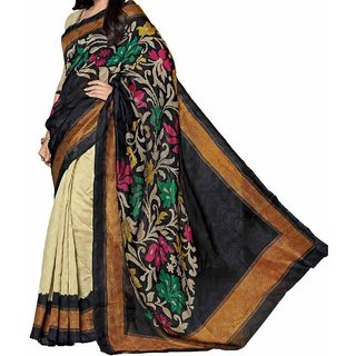 Snapshopee woman's Printed Daily Wear Bhagalpuri  Saree(AMISHA FLOWER)