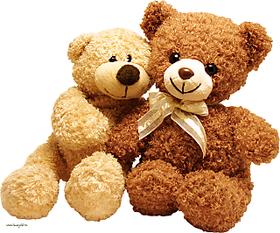 Classic bear with Ribbon Dark brown - 55 cm  (Brown)