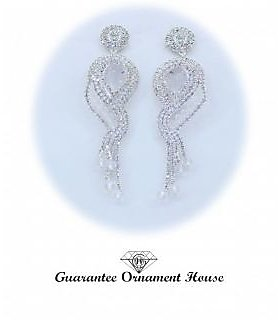 Guarantee Ornament House  Imitation Jewellery Designer Best Quality American Diamond Earrings EAR7