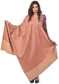 Women's Orange Kashmiri Cashmilon Shawls