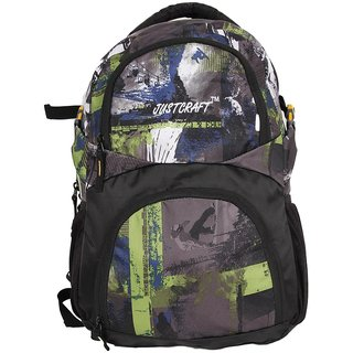 Justcraft Green Water Resistant Backpacks
