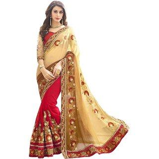 Ruchika Fashion Half Half Georgette Saree
