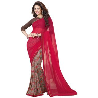 Ruchika Fashion Half Half Georgette Saree