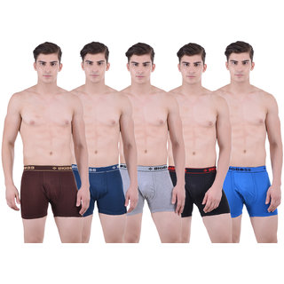 Pack of 5 Dollar Bigboss Men's Premium Multi Colour Long Trunk