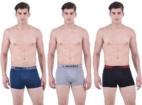 Pack of 3 Dollar Bigboss Men's Premium Multi Colour Mini Trunk