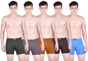 Pack of 5 Dollar Bigboss Men's Premium Multi Colour Boxer Trunk Trunk