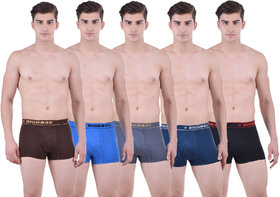 Pack of 5 Dollar Bigboss Men's Premium Multi Colour Mini Trunk