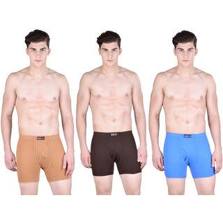 Pack of 3 Dollar Bigboss Men's Premium Multi Colour Boxer Trunk Trunk