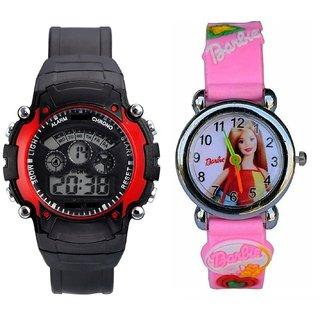 cd157193a Katrodiya Round Dial Black And Pink Plastic And Rubber Quartz Kids watch. Rs.  189