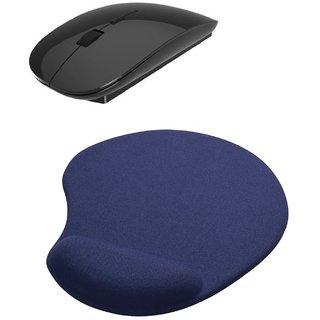 2.4Ghz Ultra Slim Wireless Mouse Mousepad Combo(BLACK)
